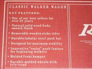 Radio Flyer Wood Classic Walker Wagon For The Birthday Boy